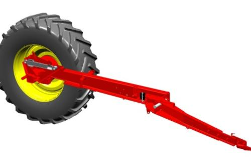 TwinFlex hydraulic axle suspension